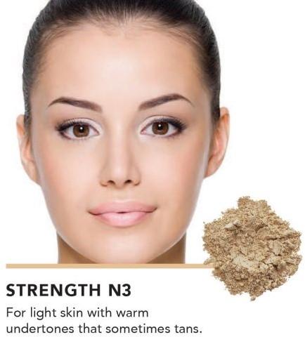 INIKA Loose Mineral Foundation SPF25 - Strength Voor lichte huidteint met peachy beige ondertoon-2