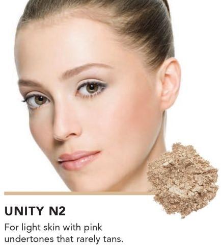 INIKA Loose Mineral Foundation SPF25 - Unity Voor lichte bleke huid met rode wangen