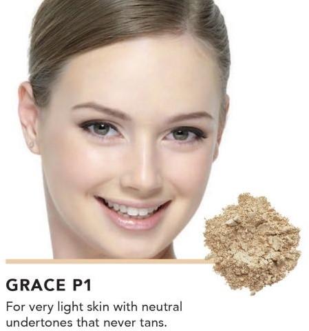 INIKA Baked Mineral Foundation Powder - Grace Voor zeer lichte, porseleinen huidteint