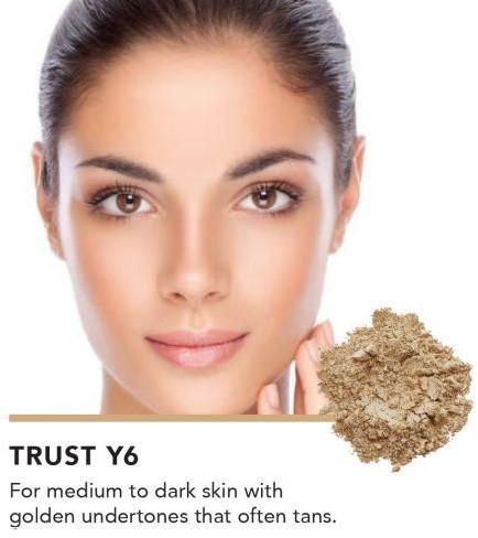 INIKA Baked Mineral Foundation Powder - Trust Voor medium tot een donker beige huidteint, bruin gouden ondertoon