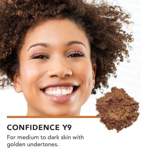INIKA Baked Mineral Foundation Powder - Confidence Voor medium tot donkere huidtinten met gouden ondertonen