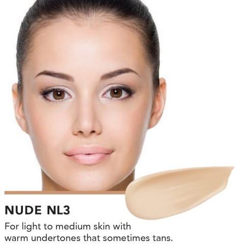 INIKA Biologische Liquid Foundation met Hyaluronic Acid - Nude Voor lichte huid met neutrale ondertoon die soms bruin wordt door de zon-3