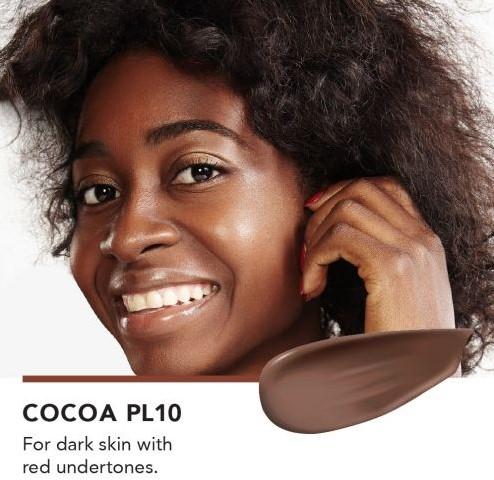 INIKA Biologische Liquid Foundation met Hyaluronic Acid - Cocoa Voor een donkere huid met een rode ondertoon