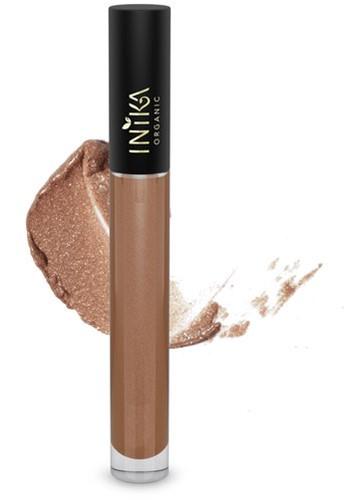 INIKA Biologische Lip Glaze - Cappuccino Warm bruin kleur met reflecterende finish
