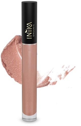INIKA Biologische Lip Glaze - Blossom Licht roze met peachy ondertoon