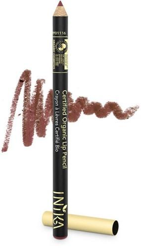 INIKA Biologische Lip Pencil - Moroccan Donker roze