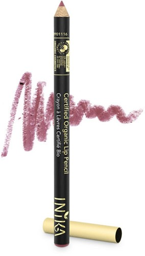 INIKA Biologische Lip Pencil - Dusty Rose Zacht rose naturel -3