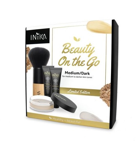 INIKA Beauty Set On The Go  - Medium/Dark Voor de medium tot donkere huid teint met gele ondertoon