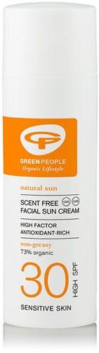Green People Parfumvrije Zonnebrand Gezicht SPF30