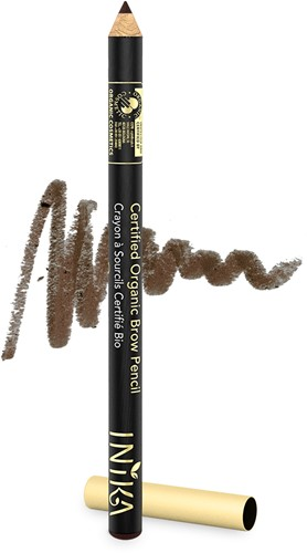 TESTER INIKA Biologische Brow Pencil - Dark Brunette
