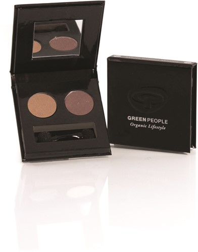 Green People Eye Shadow Duo Night Forest