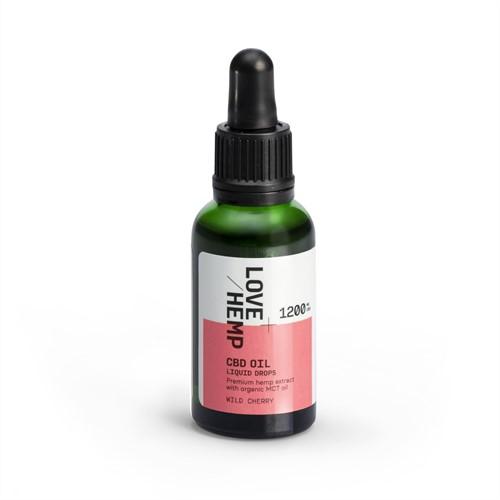 Love Hemp 1200mg 4% CBD Oil – 30ml Wild Cherry
