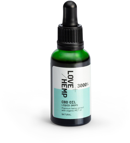 Love Hemp 3000mg 10% CBD Oil – 30ml Natural