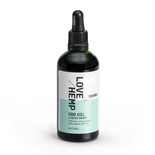 Love Hemp 10,000mg 10% CBD Oil Drops – 100ml Natural