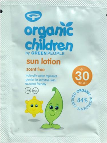 SAMPLE Green People - Zonnebrandcréme kinderen SPF30